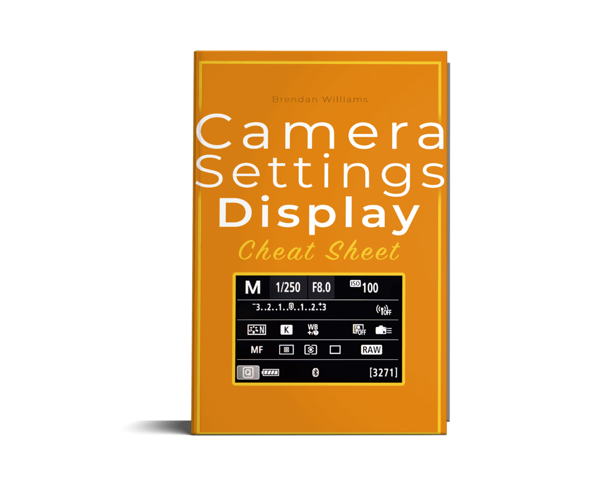camera settings cheat sheet by brendan williams